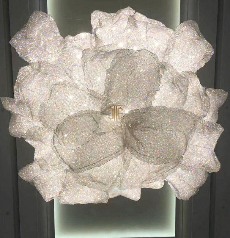 Hotel crystal chandelier