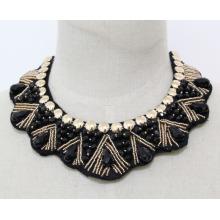 Frau Mode Modeschmuck Perlen Kristall Choker Halskette (JE0142-1)