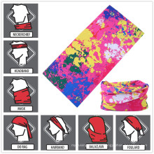 Diseño personalizado impreso multifuncional estilo Bandana Headwear