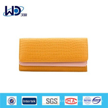 Lemon yellow magnet clasp wallet