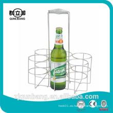 Portabotellas de cerveza de metal para el restaurante