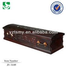 JS-A640 sofá cheio de poplar com bela escultura