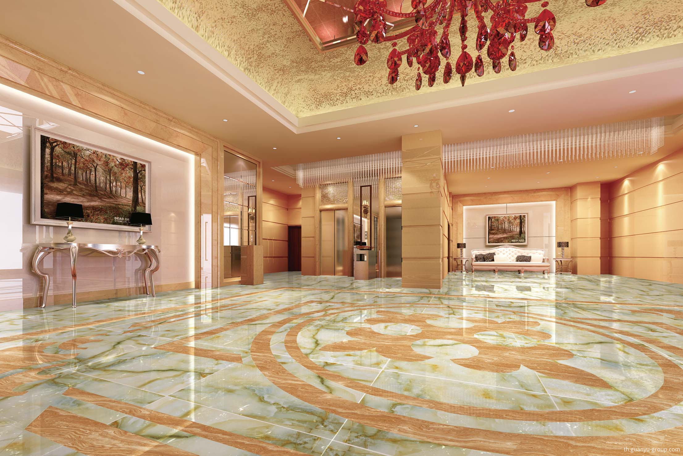 High-End Marble Pattern Polished Porcelain Tile