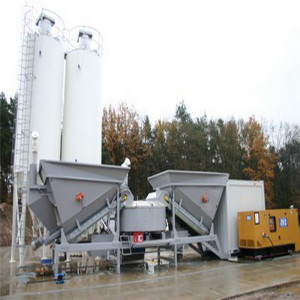 Mobile Concrete Mixer Batching plant With Pump