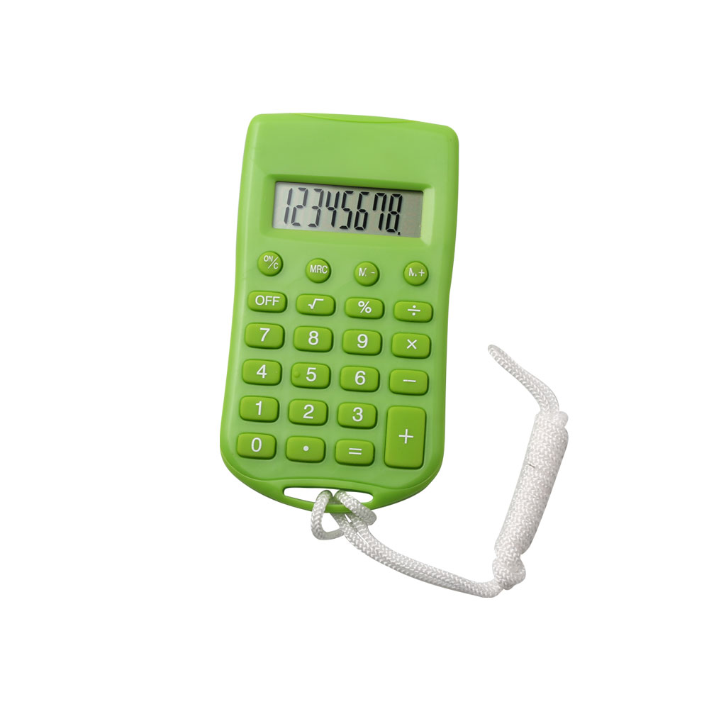 8 Digits Mini Calculator with Lanyard