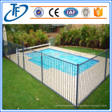 Removable pool safety fence