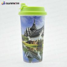 Sunmeta Directamente suministro de la fábrica Taza de café plástica caliente de la impresión de la taza de café de Starbucks