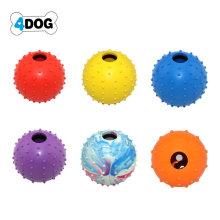 Brinquedo ecológico com bola de borracha para cães