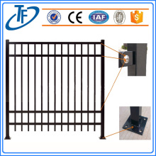 Powder coated horizontal iron fence design