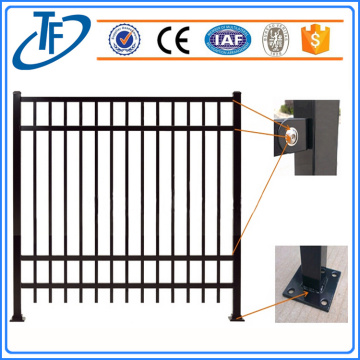Black Industrial Garrison Steel Picket Fencing