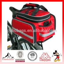 China supplier multicolor bike tail waterproof bicycle transport bag, fitness bicycle saddle bag big storage