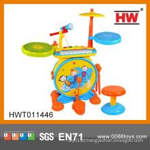 Novo produto educacional conjunto de instrumentos musicais Kids plástico brinquedo conjunto de tambor
