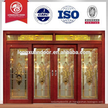 Porta de madeira deslizante, porta de slidng de luxo, porta de correr de madeira