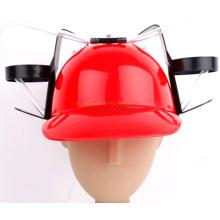 Gorra de encargo de la cerveza del casco de la impresión con la paja de beber para el día de St Patrick