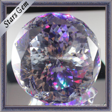 Beautiful Multi-Color Fancy Cut Round Cubic Zirconia Ball