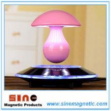 Magnetic Levitation Mushroom Music Night Lâmpada com alto-falante Bluetooth