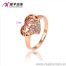 Anneau en forme de coeur populaire Xuping en or rose