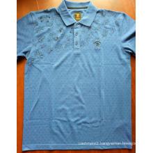 Men's Screen Printed Short Sleeve Polo Tee Shirts