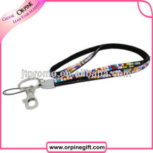 Fashion Wristlet Bling Rhinestone Keychain for Girl
