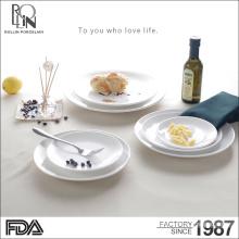 European Style Reliefs Ceramic Plate for Dumplings Salad Steak Disc Dish porcelain plates