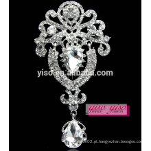 Grande broche de botão de diamante de jóias de luxo