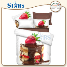 GS-FM3DCD-10 strawberry bedding 3d printed bedsheet fabric