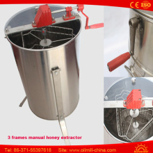 Hot Sale Manual Honey Processing Machine 3 Frames Honey Extractor