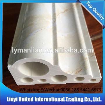 Tablero de la esquina del suelo de mármol artificial de PVC