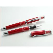 Nova chegada vermelha caneta decorativa barata de metal para a senhora