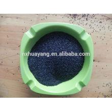 85% Al2O3 alumínio fundido preto polihsing em pó aço inoxidável