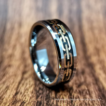 8mm Tungsten Carbide Jewelry Man Ring in Stock