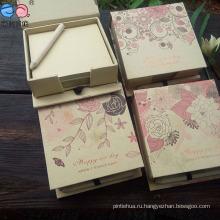 Лучшая продаваемая коробка для блокнота Kraftpaper с ручкой (NP-FG-0007)