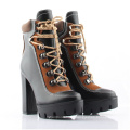Women's winter shoes ankle  Lace-up Ladies high heel feman shoes vintage fashion women's high heel sexy bootsbotas mujer