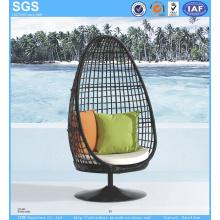 Meuble de patio Chaise en osier ronde en osier