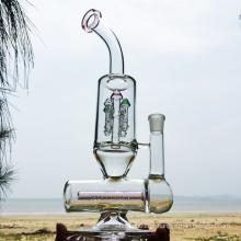 Inverno mais novo projeto de vidro rosa tubos de água fumaça (ES-GB-298)