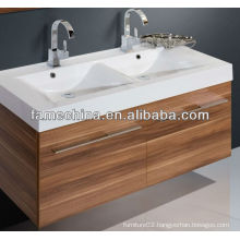 2013 Double Resin Basins Bathroom Melamine Bathroom Furniture Normal
