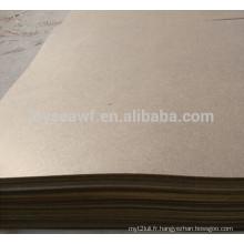 Panneau dur brun 4 * 8 avec surface lisse et dossier rugueux