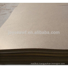 brown hardboard 4*8 with smooth surface and rough back