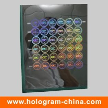 Anti-Fake 3D Laser Holographic Master