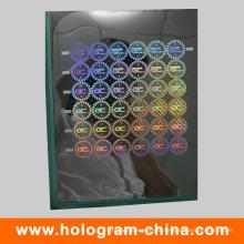 Mestre de Holographic de segurança de laser personalizado