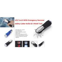 8 em 1 multi ferramenta luz com martelo de emergência