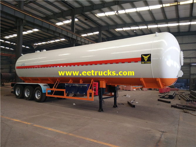 3 Axle Lpg Delivery Tanker Trailers