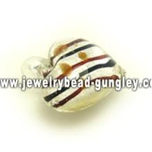 colgante de cristal de Murano de raya de multi colores