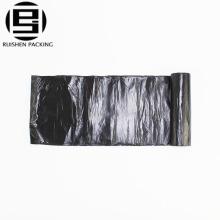 Sac à ordures en plastique résistant de polyester de HDPE grand noir avec le cordon
