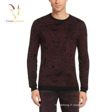 Dernier pull en laine pour les hommes d'impression de conception