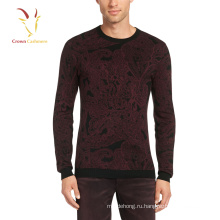 Последний шерстяной вязание свитера для мужчины дизайн печать