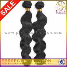 Тела волны двойного переплетения 5А девственной высокое качество перуанского человеческих волос