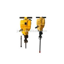 Gasoline portable rock drilling machine