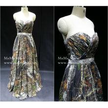 [Em estoque] Vestido de noiva de comprimento colorido do querido com strass para casamento de praia BYE-14051