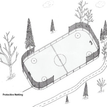 Hockey Safety and Protective Perimeter Netting